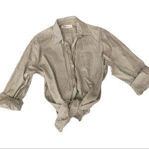 Vintage Burberrys Striped Dress Shirt